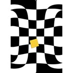 Dropout Yellow Black And White Distorted Check THANK YOU 3D Greeting Card (7x5) Inside