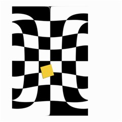 Dropout Yellow Black And White Distorted Check Small Garden Flag (two Sides) by designworld65