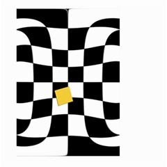 Dropout Yellow Black And White Distorted Check Large Garden Flag (two Sides) by designworld65