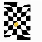 Dropout Yellow Black And White Distorted Check Large Garden Flag (Two Sides) Front