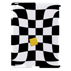 Dropout Yellow Black And White Distorted Check Apple Ipad 3/4 Hardshell Case (compatible With Smart Cover) by designworld65