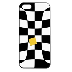 Dropout Yellow Black And White Distorted Check Apple Iphone 5 Seamless Case (black)