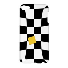 Dropout Yellow Black And White Distorted Check Apple Ipod Touch 5 Hardshell Case