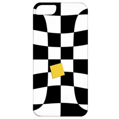 Dropout Yellow Black And White Distorted Check Apple Iphone 5 Classic Hardshell Case by designworld65
