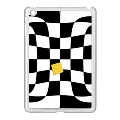 Dropout Yellow Black And White Distorted Check Apple Ipad Mini Case (white) by designworld65