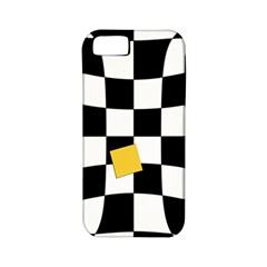 Dropout Yellow Black And White Distorted Check Apple Iphone 5 Classic Hardshell Case (pc+silicone) by designworld65