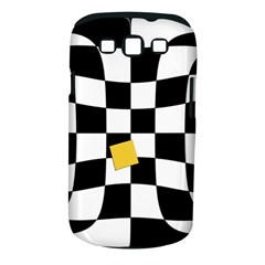 Dropout Yellow Black And White Distorted Check Samsung Galaxy S Iii Classic Hardshell Case (pc+silicone) by designworld65
