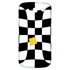 Dropout Yellow Black And White Distorted Check Samsung Galaxy S3 S Iii Classic Hardshell Back Case