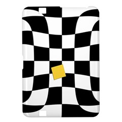 Dropout Yellow Black And White Distorted Check Kindle Fire Hd 8 9  by designworld65