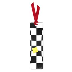 Dropout Yellow Black And White Distorted Check Small Book Marks