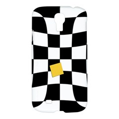 Dropout Yellow Black And White Distorted Check Samsung Galaxy S4 I9500/i9505 Hardshell Case