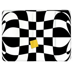 Dropout Yellow Black And White Distorted Check Samsung Galaxy Tab 7  P1000 Flip Case by designworld65