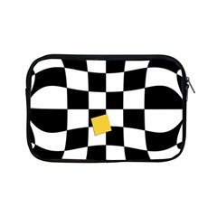 Dropout Yellow Black And White Distorted Check Apple Ipad Mini Zipper Cases by designworld65