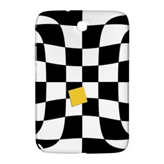 Dropout Yellow Black And White Distorted Check Samsung Galaxy Note 8 0 N5100 Hardshell Case  by designworld65