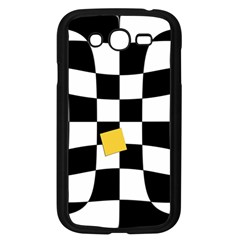 Dropout Yellow Black And White Distorted Check Samsung Galaxy Grand Duos I9082 Case (black)