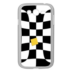 Dropout Yellow Black And White Distorted Check Samsung Galaxy Grand Duos I9082 Case (white) by designworld65