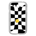 Dropout Yellow Black And White Distorted Check Samsung Galaxy Grand DUOS I9082 Case (White) Front