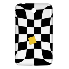 Dropout Yellow Black And White Distorted Check Samsung Galaxy Tab 3 (7 ) P3200 Hardshell Case  by designworld65