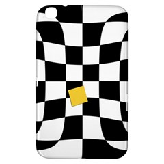 Dropout Yellow Black And White Distorted Check Samsung Galaxy Tab 3 (8 ) T3100 Hardshell Case  by designworld65
