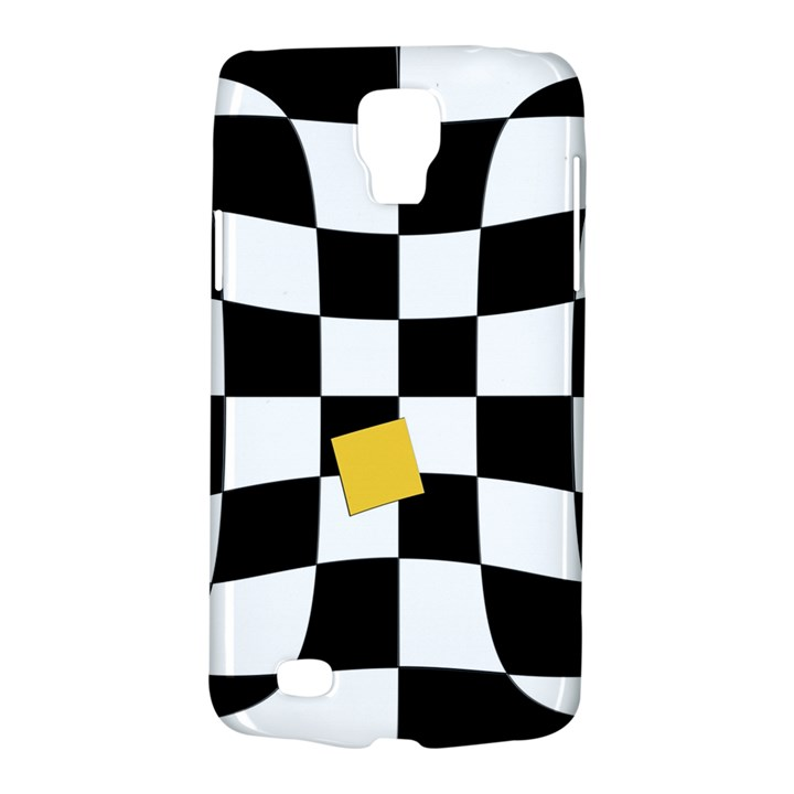 Dropout Yellow Black And White Distorted Check Galaxy S4 Active