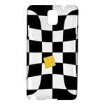 Dropout Yellow Black And White Distorted Check Samsung Galaxy Note 3 N9005 Hardshell Case