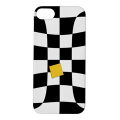Dropout Yellow Black And White Distorted Check Apple Iphone 5s/ Se Hardshell Case