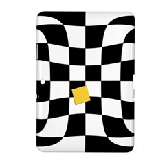 Dropout Yellow Black And White Distorted Check Samsung Galaxy Tab 2 (10 1 ) P5100 Hardshell Case  by designworld65