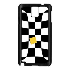 Dropout Yellow Black And White Distorted Check Samsung Galaxy Note 3 N9005 Case (black) by designworld65