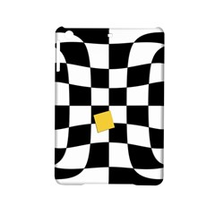Dropout Yellow Black And White Distorted Check Ipad Mini 2 Hardshell Cases by designworld65