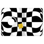 Dropout Yellow Black And White Distorted Check Kindle Fire HDX Flip 360 Case Front