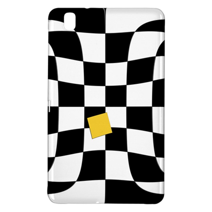 Dropout Yellow Black And White Distorted Check Samsung Galaxy Tab Pro 8.4 Hardshell Case