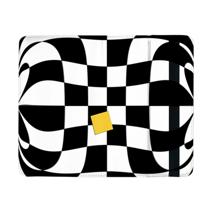 Dropout Yellow Black And White Distorted Check Samsung Galaxy Tab Pro 8.4  Flip Case