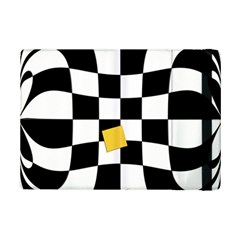 Dropout Yellow Black And White Distorted Check Ipad Mini 2 Flip Cases by designworld65