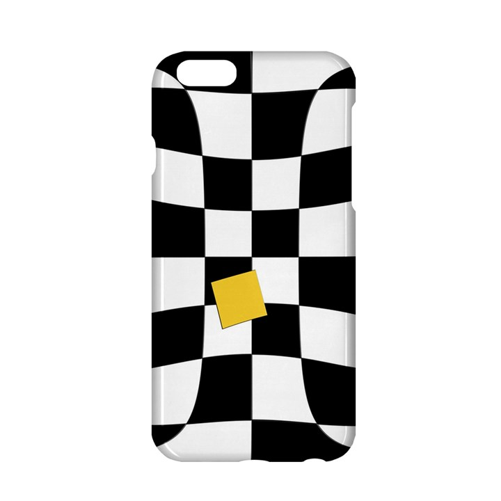 Dropout Yellow Black And White Distorted Check Apple iPhone 6/6S Hardshell Case