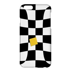 Dropout Yellow Black And White Distorted Check Apple Iphone 6 Plus/6s Plus Hardshell Case by designworld65