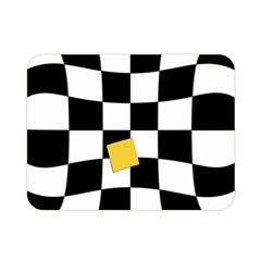 Dropout Yellow Black And White Distorted Check Double Sided Flano Blanket (mini)  by designworld65