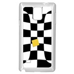Dropout Yellow Black And White Distorted Check Samsung Galaxy Note 4 Case (White) Front