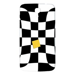 Dropout Yellow Black And White Distorted Check Samsung Galaxy Mega I9200 Hardshell Back Case by designworld65