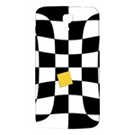 Dropout Yellow Black And White Distorted Check Samsung Galaxy Mega I9200 Hardshell Back Case Front
