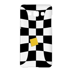 Dropout Yellow Black And White Distorted Check Samsung Galaxy A5 Hardshell Case  by designworld65