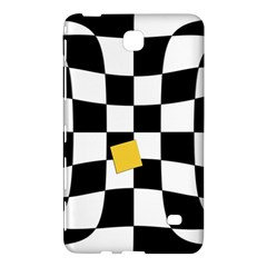 Dropout Yellow Black And White Distorted Check Samsung Galaxy Tab 4 (7 ) Hardshell Case  by designworld65