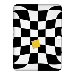 Dropout Yellow Black And White Distorted Check Samsung Galaxy Tab 4 (10 1 ) Hardshell Case