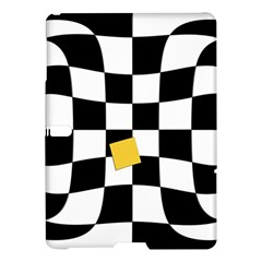 Dropout Yellow Black And White Distorted Check Samsung Galaxy Tab S (10 5 ) Hardshell Case  by designworld65
