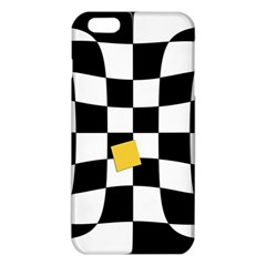 Dropout Yellow Black And White Distorted Check Iphone 6 Plus/6s Plus Tpu Case by designworld65