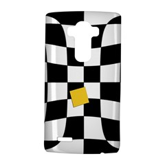 Dropout Yellow Black And White Distorted Check Lg G4 Hardshell Case by designworld65