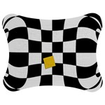 Dropout Yellow Black And White Distorted Check Jigsaw Puzzle Photo Stand (Bow) Front