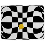 Dropout Yellow Black And White Distorted Check Jigsaw Puzzle Photo Stand (Rectangular) Front