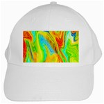Happy Multicolor Painting White Cap