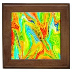 Happy Multicolor Painting Framed Tiles by designworld65