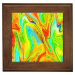 Happy Multicolor Painting Framed Tiles Front